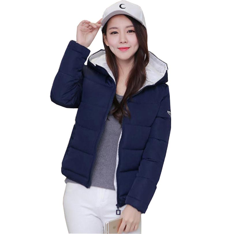 2017 fashion new down cotton jacket winter warm hooded short thick solid slim plus size down parkas casual wadded coat kp0896Одежда и ак�е��уары<br><br><br>Aliexpress