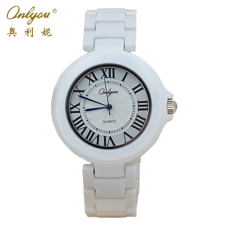 Onlyou Brand White Ceramic Watch Mens Womens 2016 Quartz Watches Wrist Bracelet Boys Girls Fashion Casual Watch Clock 8830<br><br>Aliexpress