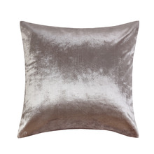 Shinny silver velvet Wholesales Pillow cushion ivory Grey red Cushion cover Home Decorative 45x45cm/50*50cm(China)