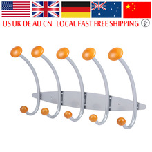 Stainless Steel Coat Rack Wall Door Mounted Hanger Coat Hat Cloth Towel Rack Hook For Living Room Bathroom Accessories