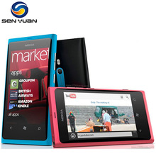 "Original lumia 800 Windows Phone 3.7"" nokia Lumia 800 Mobile Phone ROM 16GB Camera 8.0MP Wifi GPS Bluetooth 3G cell phone"