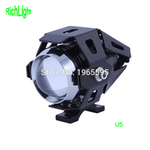 2017 U5 LED motorcycle accessories spotlight driving headlight for moto BMW harley Yamaha Honda Suzuki ATV UTV dirtbike cruiser