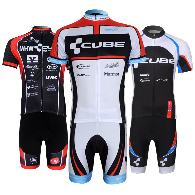 Cube Cycling Jersey sets MTB bike wear clothes Ropa Ciclismo bicycle Clothing Quick-Dry Mountain uniform short Maillot Culotte<br>