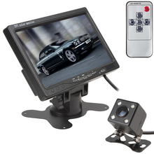 CAR HORIZON 7 Inch TFT LCD Color 2 Video Input Car Rear View Headrest Monitor+ 420 TV Lines 170 Degrees Lens Night Vision Camera