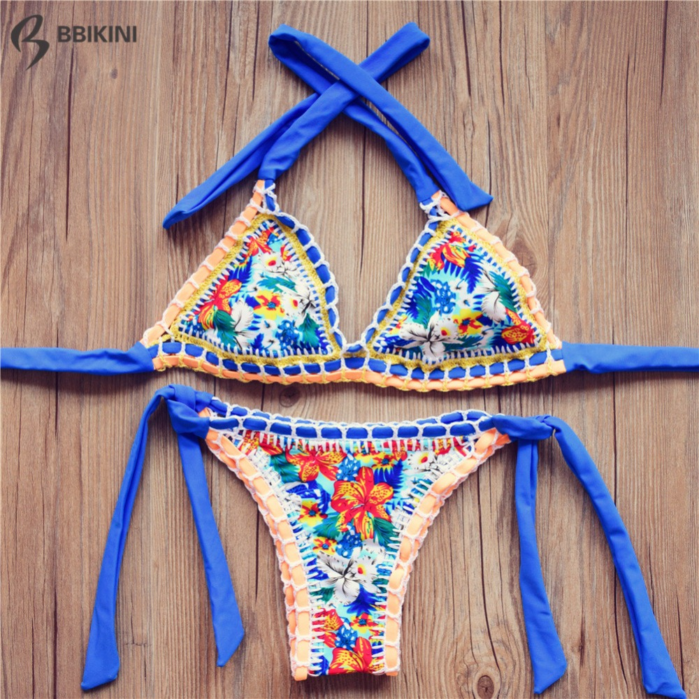 2016 Sexy Handmade Crochet Bikini Swimsuit Brazilian Bikini Crochet Swimwear Biquini Maillot de Bain Biquines Bathing Suit 6-2<br><br>Aliexpress