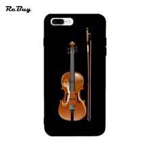 Fine Musical Instrument Violin Covers For Iphone 6s Plus Ultra-thin For Iphone 7plus/7 Case Soft TPU Case For Iphone 6/6plus(China)