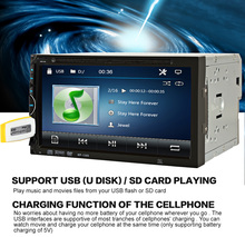 2 Din Car Video Player DVD 7'' HD Touch Screen Bluetooth Stereo Radio Car Audio Auto Electronics Support Rear View Camera