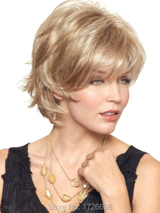 Cheap short wig fashion Heat Resistant synthetic new hairstyles hair wigs for old Women Elderly Lady African Wig Free shipping<br><br>Aliexpress