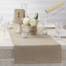 2.75M Hessian Burlap Table flag Runner Roll Vintage Rustic Natural Wedding Decorations Natural Jute Rustic Burlap Table Runner