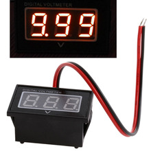 Waterproof Battery Meter DC 2.5-30V Auto Car Gauge Digital Voltmeter LED Red(China)