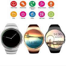 Kingwear KW18 Smart Watch Android/iOS Thin Smart watches With A Sim Card Bluetooth Phone Function Heart Rate Monitor Smartwatch(China)