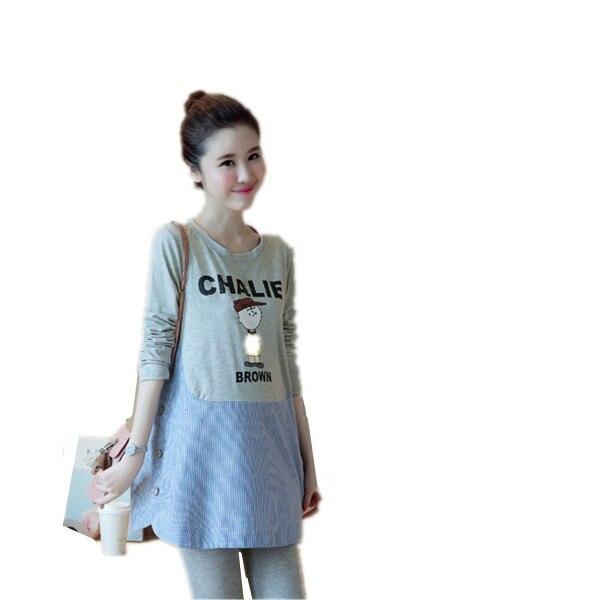 2017 Winter Autumn Denim Patchwork False Three Pieces Maternity Dresses for Pregnant Women,Long-sleeved Dress Pregnancy Clothes<br><br>Aliexpress