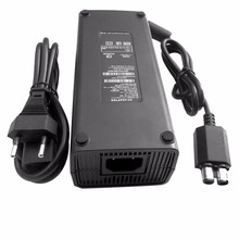 EU Plug AC 100v~240v Adapter Power Supply Cord for XBOX 360 AC Adapter Charger LED Indicator Replacement Charger for X-BOX 360