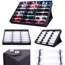 18PCS Eyewear Sunglass Organizer Box Jewelry Watches Display Storage Case  #56337