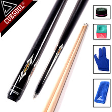 CUESOUL New Professional 1/2 Jointed Billiard Pool Cues Stick 13mm Tip 147cm For Black 8 Nine Ball