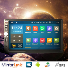 1024*600HD Full Touch Screen android 5.1 Car Multimedia Player For Universal Quad Core Android Double 2 Din Car Radio Head Unit
