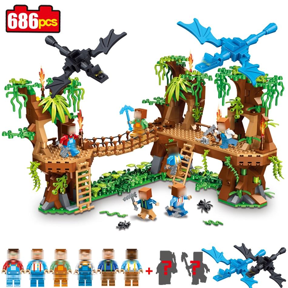 Qunlong 686pcs Compatible Legoed Building Block Minecraft My Village DIY Brick Figure model building toys hobbies for children<br>
