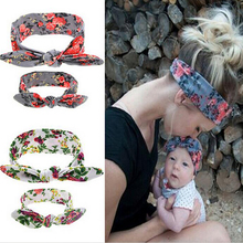 TWDVS Kids and Mother Paternity Style Hair Accessories pointing Knot Flower Hair Elastic Bands Ring Headband W215