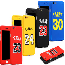 Michael Air Jordan 23 Phone Cover Case funda iPhone 6 6s 7 8 Plus Kobe Bryant curry Caso Hood capinha iPhone Case Jordan