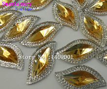 Make Goddess S Shape Yellow Rhinestones 15x30mm Strass Crystal For Sewing Accessories Artwares Stones and Crystals Gems Bling(China)