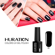 Huration 29 Color Soak-off Nail Gel Polish 8ML LED UV Lucky Colors Professional Cheap Top And Base Coat Gel Lacquer(China)