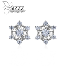 SIZZZ New Europe and the United States explosion models six flower stud earrings large copper fine jewelry for women(China)