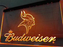 LD279- Minnesota Vikings Budweiser LED Neon Light Sign