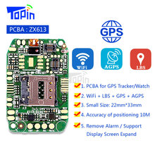 ZX613 GPS Tracker PCBA GSM Wifi+GPS+LBS Mother Board Program for GPS Positioning Locator Anti-lost Device Android Smart Watch