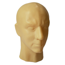 Buy Mould 3D Skin / Black latex human mask hood closed eyes fetish hood