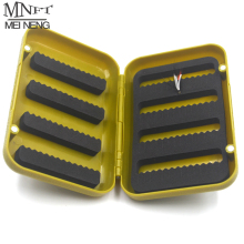 MNFT 1PCS ABS Plastic Foam Fly Fishing Flies Lure Box Fly Tying Artificial Insect Bait Hook Case  Boxes Fish Accessories L S