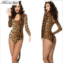 Funny Tiger Cat Cosplay Animal Costume Woman Halloween Carnival Party Games Outfits Sexy Adult leopard costume E451