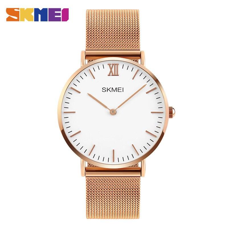 SKMEI Women Dress Quartz Watches High Quality Leather Strap Lady Clock Simple Waterproof Wristwatch Relogio Masculino 1181<br><br>Aliexpress