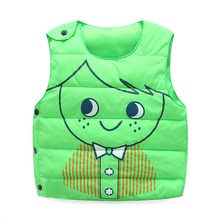 Retail Baby Children Autumn Winter Fashion Cartoon Caracter Vest Kids Sports Single Breasted Comfortable Warm Waistcoat Hot sale