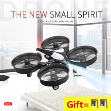 dron rc helicopter mini drone jjrc h36 2.4Ghz 6 axis gyro rc quadcopter helicopter control remote toys for children nano copters(China)