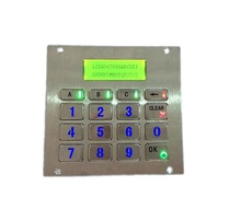 16 keys top mount metal illuminated key button RS232 interface backlit keypad with LCD display for access parking system(China)