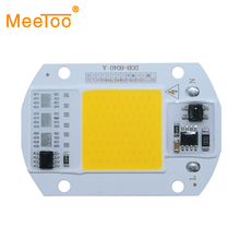 LED COB Lamp Chip 30W 50W 220V 110V Input Smart IC Driver Fit For Outdoor DIY LED Floodlight Spotlight Cold Warm White 6 Pieces