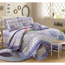 CHAUSUB 100% Cotton Quilt Set 4PC Korean Style Patchwork Bedspreads Bed Cover Duvet Cover Pillowcase Quilts Quilted Bedding Set