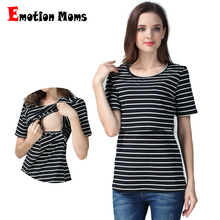 Emotion Moms Summer pregnancy Maternity clothes breastfeeding maternity tops nursing top for pregnant women nursing T-shirt(Hong Kong)