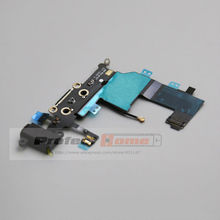 10 pcs/lot for iPhone 5 USB Charging Port Charger Dock Connector Flex Cable Earphone Audio Jack Flex Replacement Part(China)
