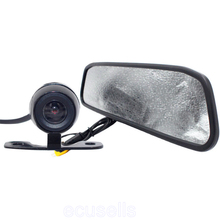 New Arrival HD Video Auto Parking LCD Monitor Car Butterfly Camera + 4.3 inch Car Rear View Mirror Monitor for Backing