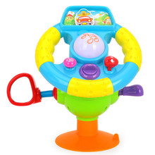 New Educational Toys Steering Wheel Baby Driver Music and Lights Learning Kids Toys Simulation Car toys for children brinquedos