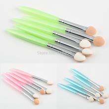 5 Pcs/set Beauty Professional Makeup Brushes Cosmetics Eye Shadow Eyeliner Brush Sponge Applicator Makeup Tool Accessories
