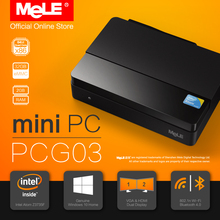 Fanless Windows 10 Mini PC Desktop MeLE PCG03 2GB DDR3 32GB eMMC Intel Bay Trail Atom Z3735F HDMI VGA LAN USB WiFi Bluetooth(China)