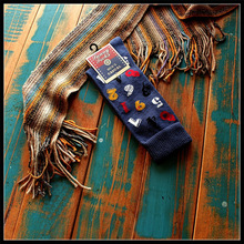 Cool number mens long sock Men cotton  socks tie skate board socks American brand socks ysf131