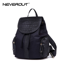 NeverOut Famous Women Book Bags Brand Name Designer Canvas & Crocodile Backpacks Fashion Lady Travel Backpack Girls School Bags