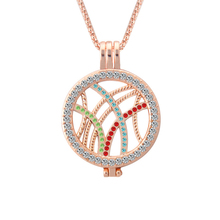Trendy new Can be opened My coin Necklace Hollow Inlay Rhinestone Frame long Pendant Necklace women ornamentation jewelry(China)