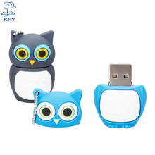 KRY USB flash drive USB flash drive cute owl memory stick 2.0 4GB 8GB 16GB 32GB 64GB flash pen cartoon owl pendrive program(China)