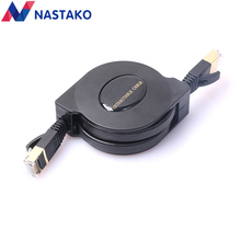 NASTAKO 1.5M 8Pin RJ45 Cat7 Cable 10000Mbps Gigabit Retractable RJ45 Cat 7 Ethernet Network Cable Ethernet Cables Black(China)