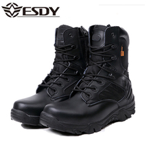 Winter Men Military Combat Boots Leather Desert Work Safety Shoes Tactical Ankle Boots Men's Army Botas Tacticos Zapatos(China)