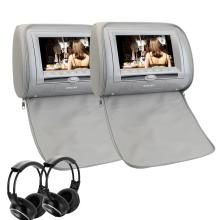 2x 7 Inch 800*480 TFT LCD  Car Headrest Monitor DVD Player Full Format HD 1080P IR/FM/MP4/MKV/RMVB/AVI Car Headrest DVD Players